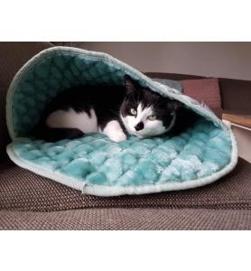 Noseys cats kattenmand slaapzak antraciet ovaal