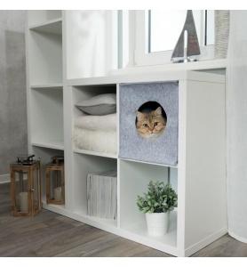 Trixie kattenmand iglo anton grijs