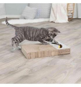 Trixie krabplank karton met balletjes wit